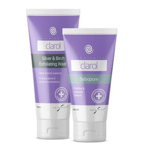 clarol duo pack with sebopure and silver and birch wash