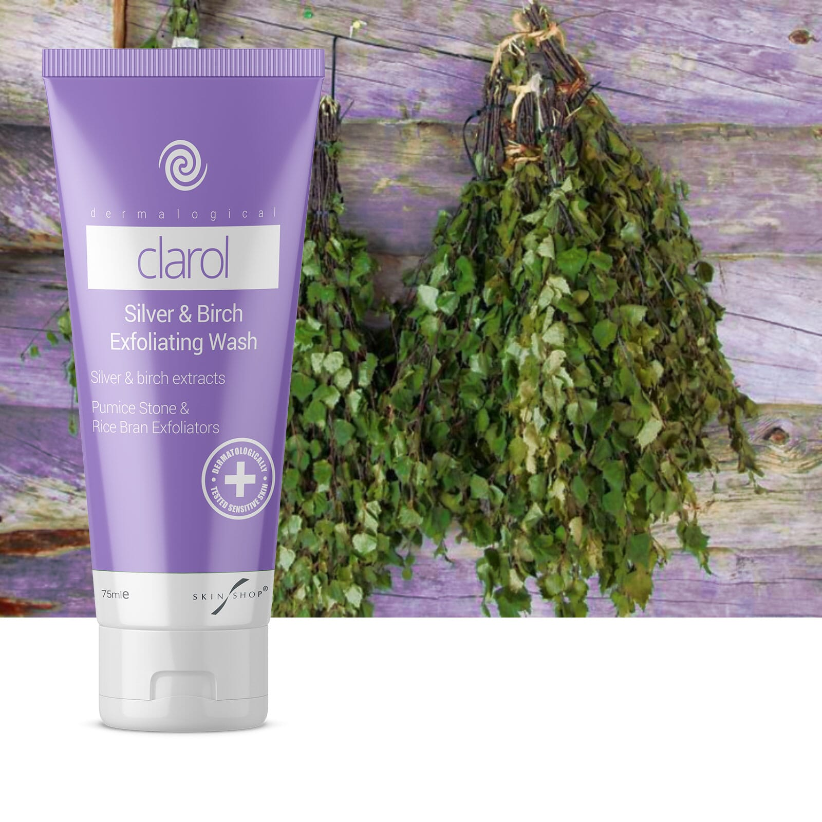 Clarol Silver and Birch Exfoliating Face Wash for Acne